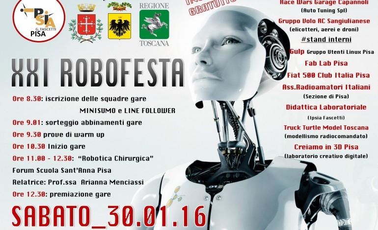 """XXI Robofesta: tutto pronto all'IPSIA """"Fascetti"""" di Pisa"""