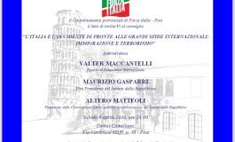 Pisa, sabato 9 aprile incontro organizzato da Forza Italia