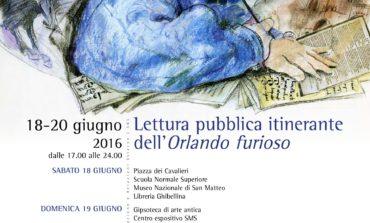 A Pisa  lettura pubblica itinerante dell'Orlando furioso