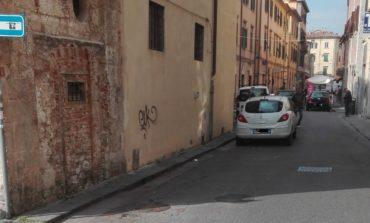 Pisa, lavori ai marciapiedi in via Palestro