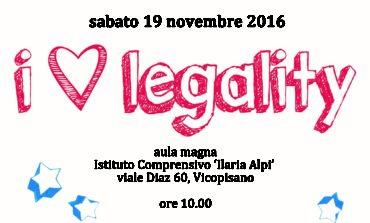 Calci e Vicopisano: iniziative sulla legalità18 e 19 novembre 2016