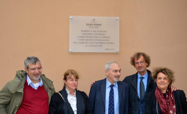 Intitolata a Elio Toaff una parte del giardino del Complesso ex Salesiani a Pisa