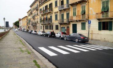 Pisa, finita la riqualificazione di lungarno Simonelli lunedì inizia la riasfaltatura di via Bonanno