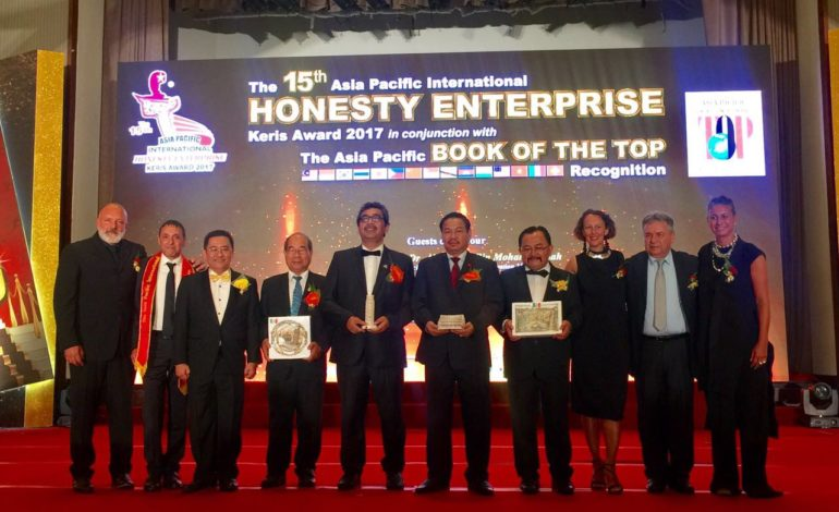 "Imprese pisane protagoniste al ""The 15th Asia Pacific international Honesty Enterprises – Keris Awards 2017"""