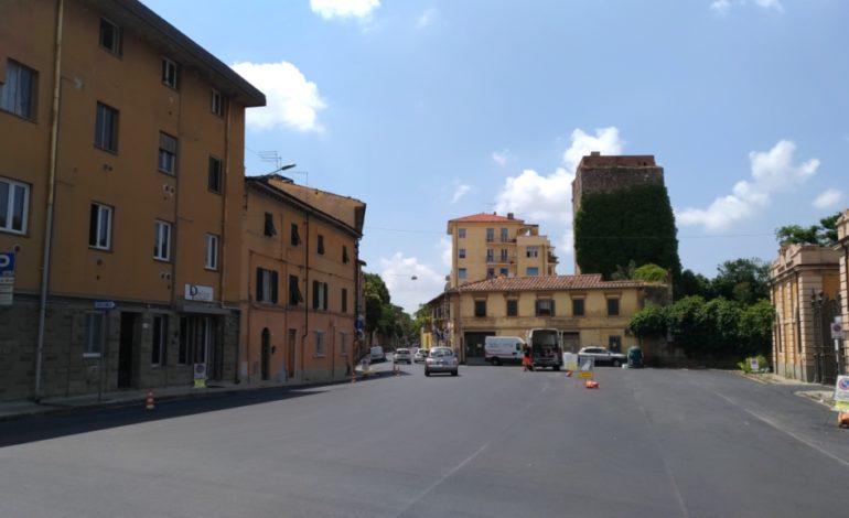 Pisa, completata la riasfaltatura di Via Nicola Pisano