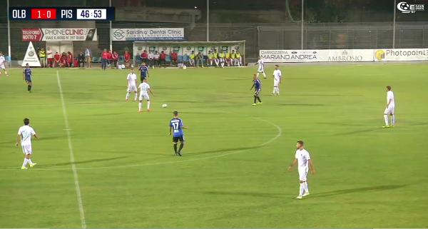 Esordio amaro dei nerazzurri in Sardegna: Olbia-Pisa 1-0