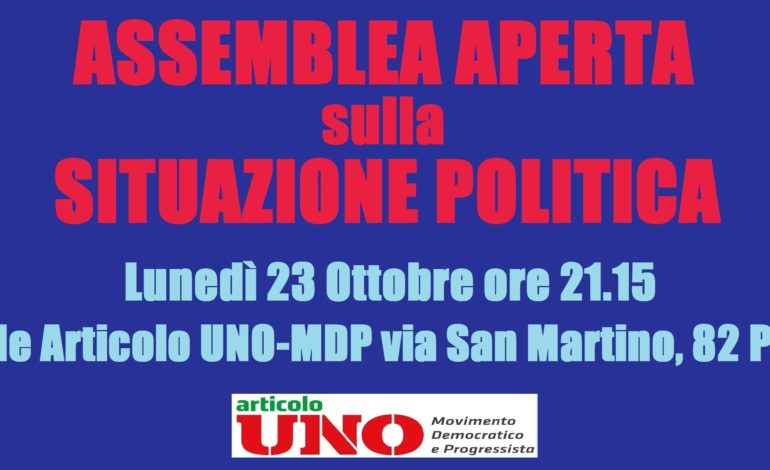 Pisa, Articolo Uno-MDP incontra i cittadini