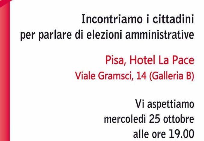 Pisa, Noi Adesso Pisa – Fratelli d'Italia-AN incontrano i cittadini