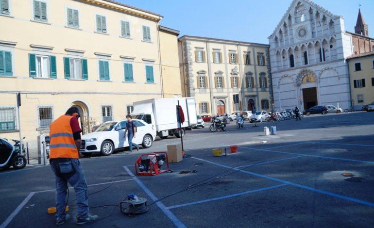 Pisa, arrivano i sensori di parcheggio in Piazza Santa Caterina