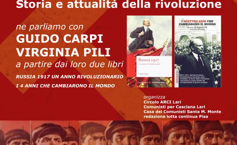 """Al Circolo Arci Lari presentazione di """"Rivoluzione d'ottobre e il socialismo. Storia e attualità della Rivoluzione. """""""