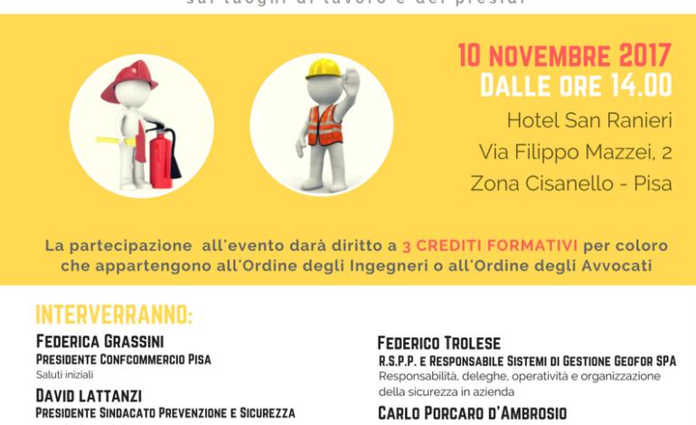 Pisa, un convegno per parlare di sicurezza sui luoghi di lavoro