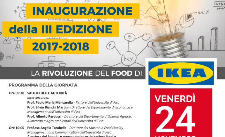 Pisa, la rivoluzione del food coinvolge Ikea al Masterfood
