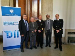Da sinistra a destra: Fulvio Gini (DII), Ruggero Reggiannini (DII), Ettore Ciaccia (Accademia Navale di Livorno), Andrea Caiti (DII), Luca Rainone (Accademia Navale di Livorno)