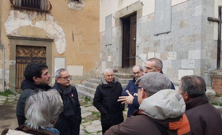 Elezioni 2018: visita dei candidati di Liberi e Uguali al convento di Nicosia