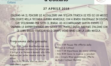 Pisa, la sfilata di mezzi storici a Coltano