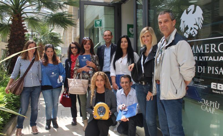 Pisa, un nuovo defibrillatore per Galleria Sanac