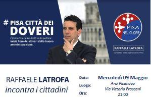 Elezioni Pisa, Latrofa (Pisa nel cuore) incontra i cittadini a Pisanova