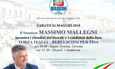 Elezioni Pisa, il Senatore Mallegni in visita al Litorale Pisano