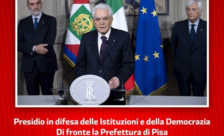 Pisa, il PD in un presidio per difendere la Costituzione e Mattarella