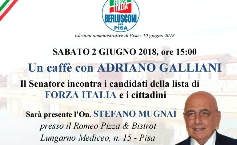Elezioni Pisa, Galliani e Tajani in città per sostenere i candidati di Forza Italia