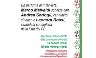 Elezioni Pisa, il 5 giugno conversazione tra Andrea Serfogli (Centrosinistra) e Marco Malvaldi