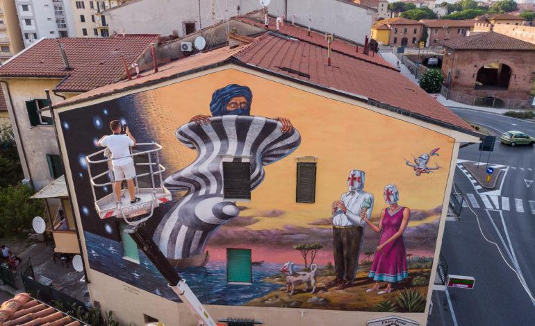 Pisa, inaugurato Cavalieri & Saraceni il murales di AEC Interesni Kazki