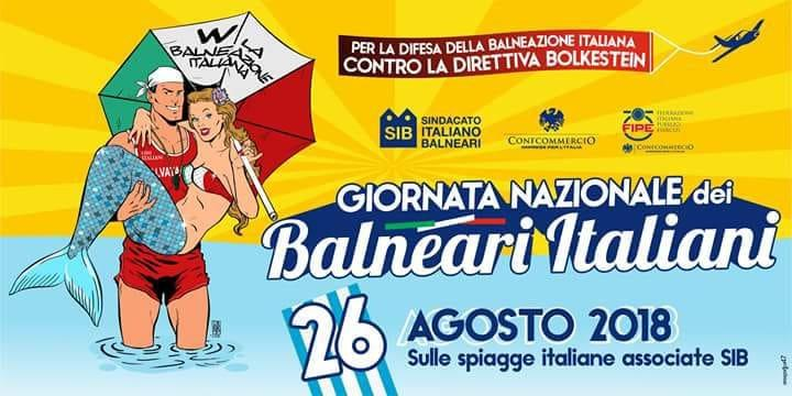 26 agosto 2018: giornata nazionale dei balneari italiani