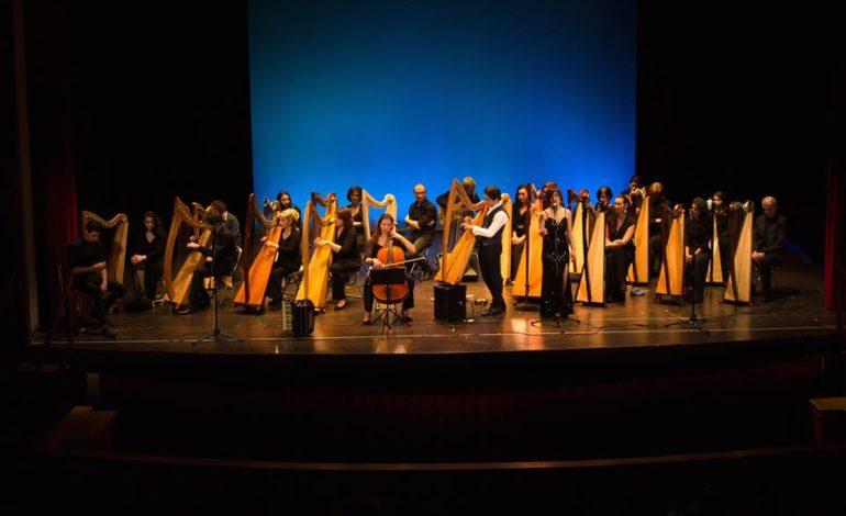 Fabius Constable, direttore della Celtic Harp Orchestra in concerto