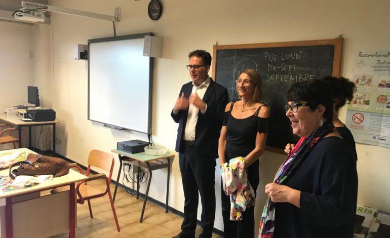 Pisa, il Sindaco Conti e l'Assessore Cardia in visita ad alcune scuole della città per l'inizio dell'anno scolastico