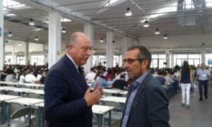 il Sindaco di Lucca Alessandro Tambellini e il Rettore Paolo Mancarella.