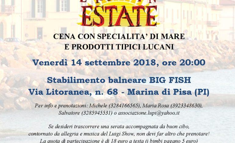 Festa di fine estate con l'associazione dei Lucani a Pisa