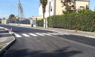 Pisa, terminata l'asfaltatura di via Livornese