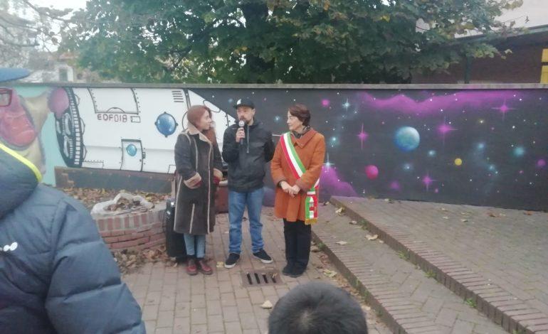 """Inaugurato il murales al parco """"IL CAMPINO"""" di Calcinaia"""