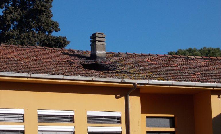 Scuole Cambini, cedimento di una porzione del tetto