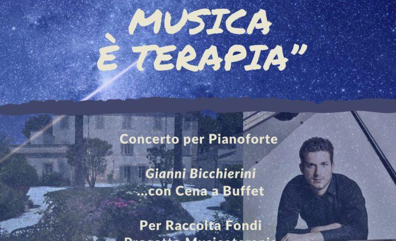 """""""Quando la musica è terapia"""", concerto pianistico di Gianni Bicchierini a favore del progetto di Musicoterapia della Stella Maris"""
