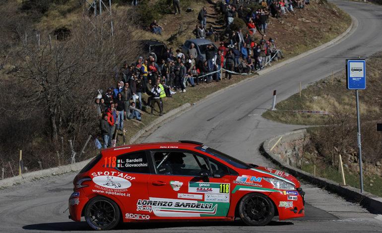 Il pisano Lorenzo Sardelli al via del Rallye Elba