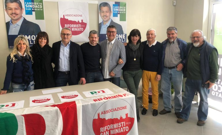 I Riformisti per San Miniato sostengono il candidato del centrosinistra
