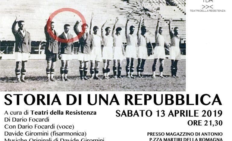 Teatro a Molina, si chiude con Storia di una Repubblica di e con Dario Focardi