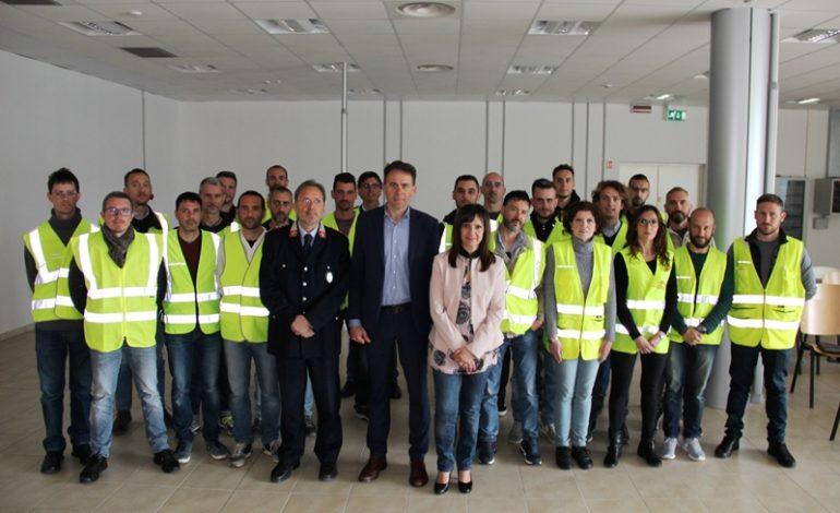 Pisa, il Sindaco Conti e l'assessore Bonanno salutano i nuovi agenti di Polizia Municipale