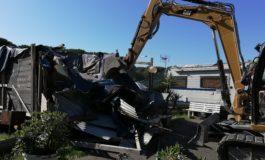 Villaggio di Coltano, rimosse due baracche abusive e una piscina
