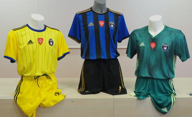 Le nuove maglie del Pisa SC della prossima stagione