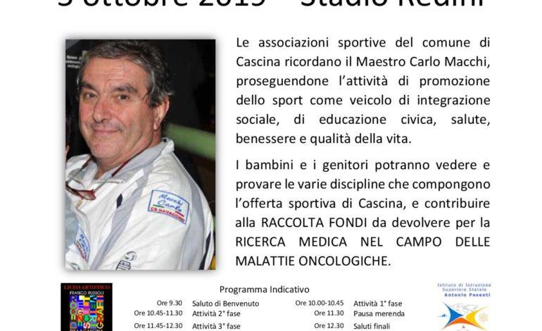 A Cascina il I Memorial Carlo Macchi