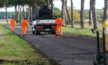 Coltano, iniziate le asfaltature della viabilità comunale
