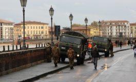 Piena dell'Arno, allerta meteo per rischio idraulico declassata a gialla, domani scuole, università e uffici pubblici aperti