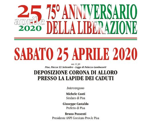 25 aprile, deposizione di corona in piazza, sospese le cerimonie civili