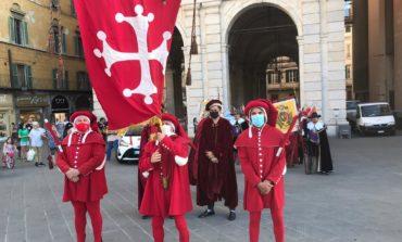 Gioco del Ponte, l'intervento dell'Anziano Rettore Michele Conti in occasione dell'evento simbolico sul Ponte di Mezzo