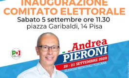 ANDREA PIERONI (PD) INAUGURA IL COMITATO ELETTORALE A PISA