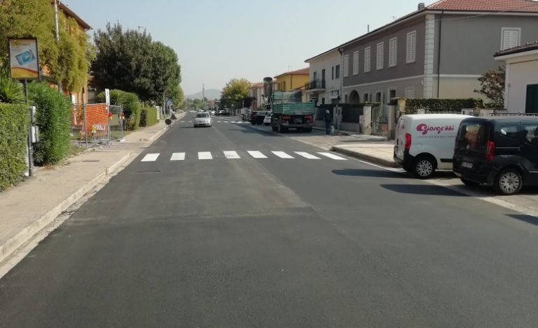 Lavori, terminata l'asfaltatura di via Pisano e intorno al Palazzetto dello Sport