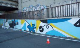 """Giovani studenti completano il """"sottopasso d'artista"""""""