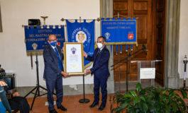 All'Università di Pisa l'emblema araldico dell'Istituto del Nastro Azzurro